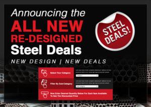 Meet the All New Steel Deals: Discount Steel Tubing