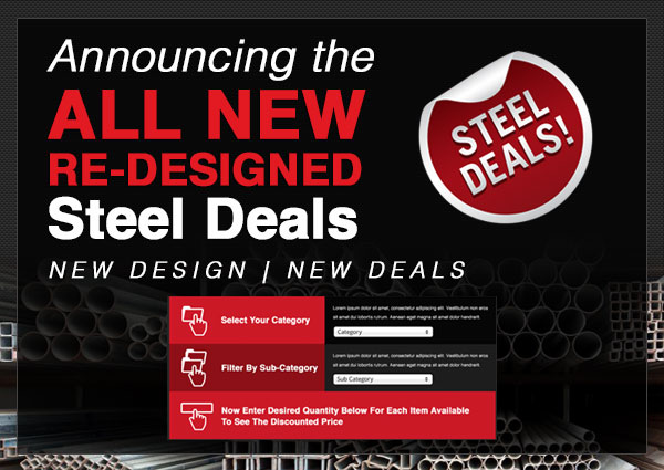 Meet the All New Steel Deals: Discount Steel Tubing