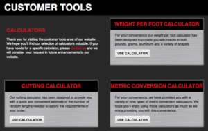 Service Steel Introduces Steel Tubing Weight Per Foot And Steel Tubing Cutting Calculators