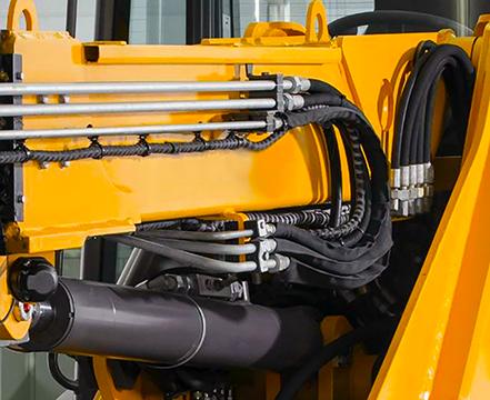 excavator hydraulic lines